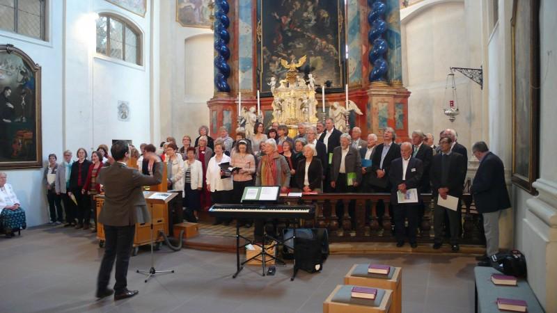 Répétition avec la Münster Chor de Rottweil